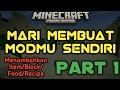 """""""Menambahkan Item/Block/Recipe/Makanan Ke Mod Kita - Cara Membuat Mod MCPE Sendiri - Minecraft PE"""