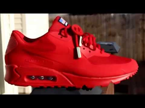 Nike Air Max 90 Hyperfuse Solar Red On Feet Review
