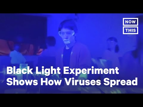Black Light Experiment Shows How Quickly COVID-19 Can Spread | NowThis