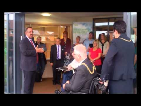 Cllr Mohammed Pervez at the official opening of Waterside