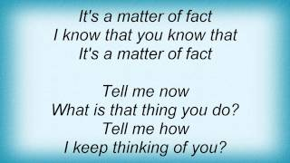 Electric Light Orchestra - As A Matter Of Fact Lyrics