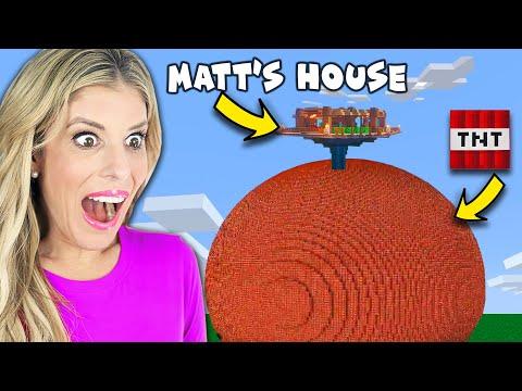 We Pranked Matt with Worlds Largest TNT Explosion in Minecraft