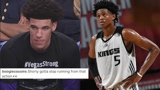 DeMarcus Cousins Says Lonzo Ball is SCARED of De'Aaron Fox