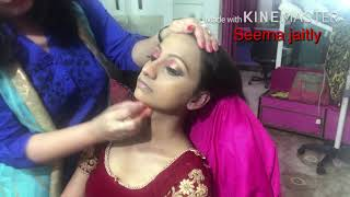 Dark skin Bridal makeup/ Full Bridal makeup with hair style Seema jaitly
