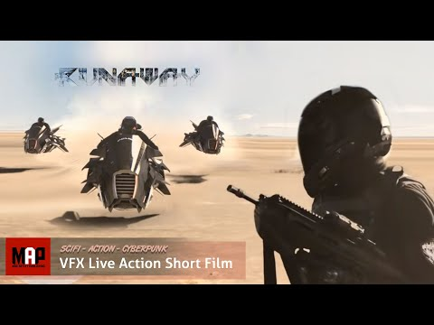 "Live Action CGI VFX Animated Short ""RUNAWAY"" Sci-Fi Suspense Thriller Film by ArtFx"