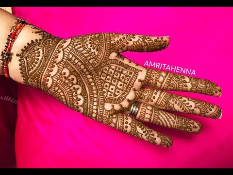 Latest Traditional Rajasthani Henna Mehndi Design For 2018