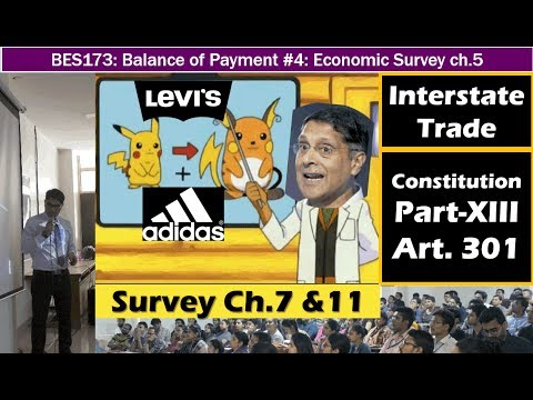 Eco. Survey ch. 7 & 11: One Economic India, Interstate Trade, Clothes & Shoes