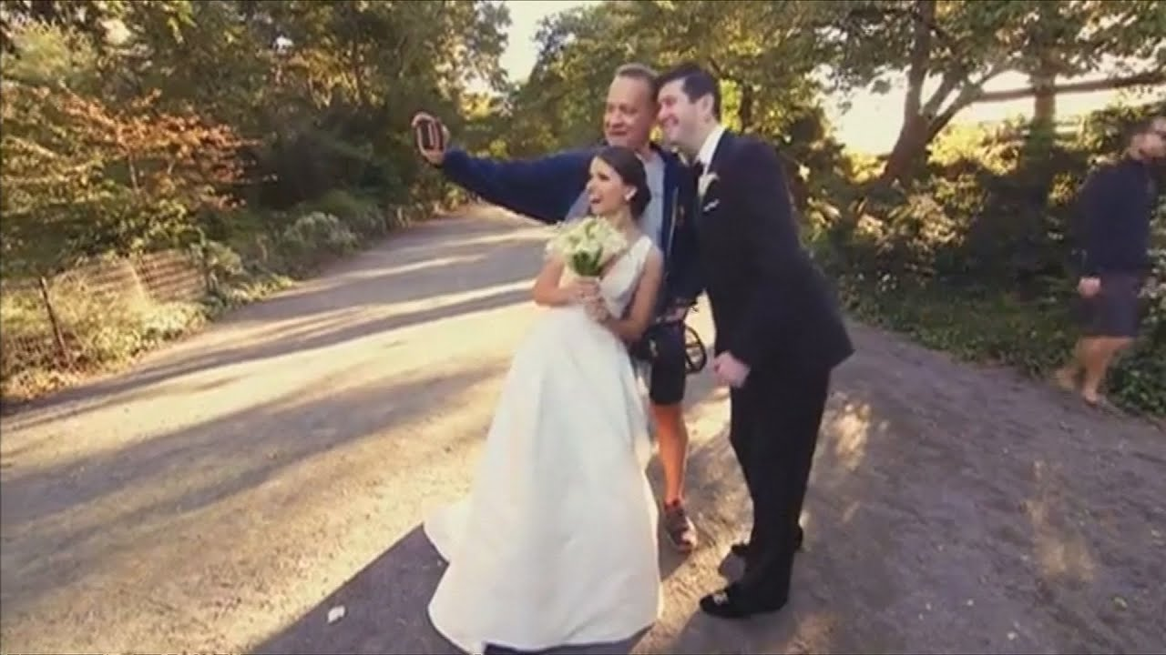 Tom Hanks Gate Crashes A Wedding And Takes Selfies With The