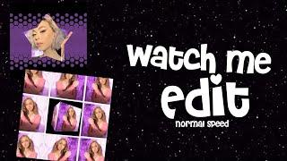Watch me edit on video star (normal speed)