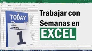 Como Agrupar y Trabajar por Semanas en Excel