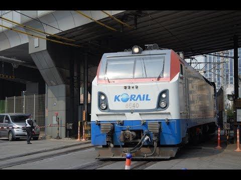 Korail trains in Seoul 4K video 서울 코레 일 열차 4K 영상