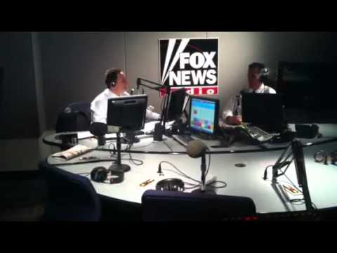 View from the Sound Booth during Brian Kilmeade Interview