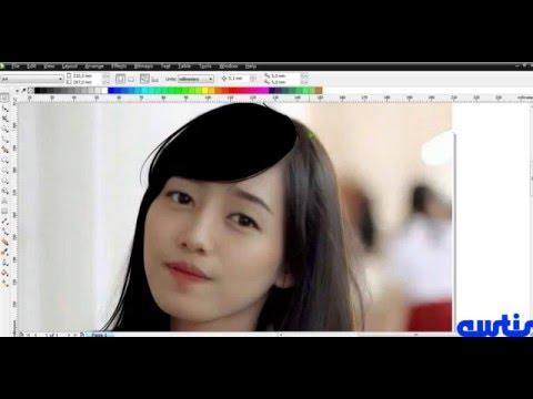 #1 PART 2 Tutorial Vector Portraits Corel Draw x5 - YouTube