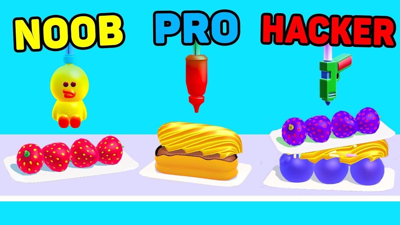 NOOB vs PRO vs HACKER - Perfect Cream