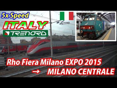 5x TRENORD Rho Fiera Milano EXPO 2015 → Milano Centrale (Passenger's view)