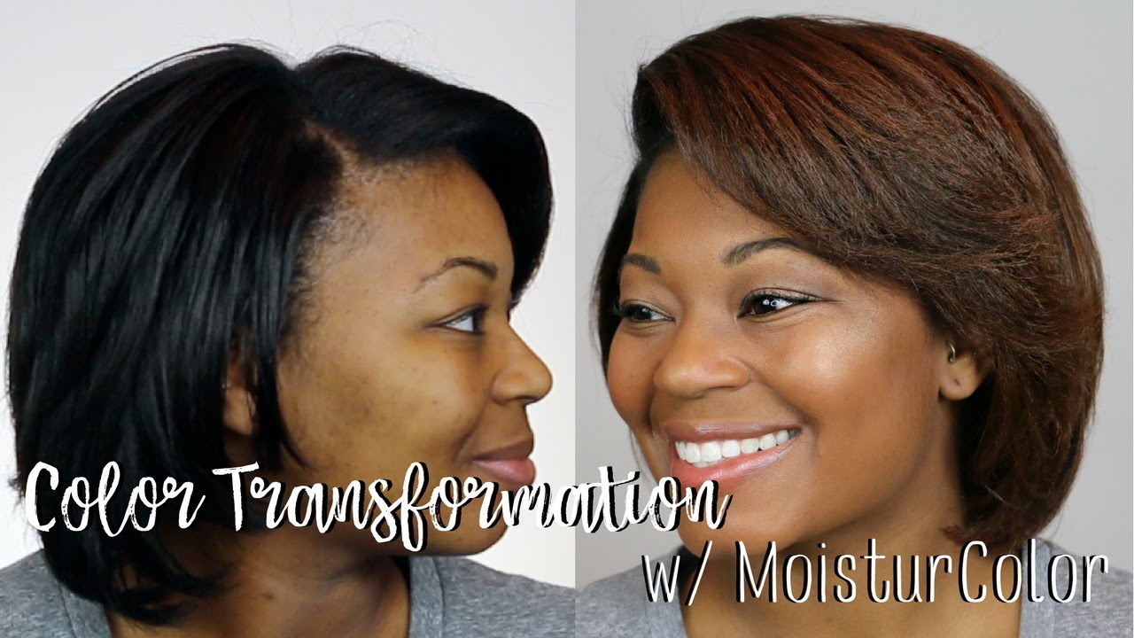 Color Transformation Dark Brown To Copper W Avlon Moisturcolor