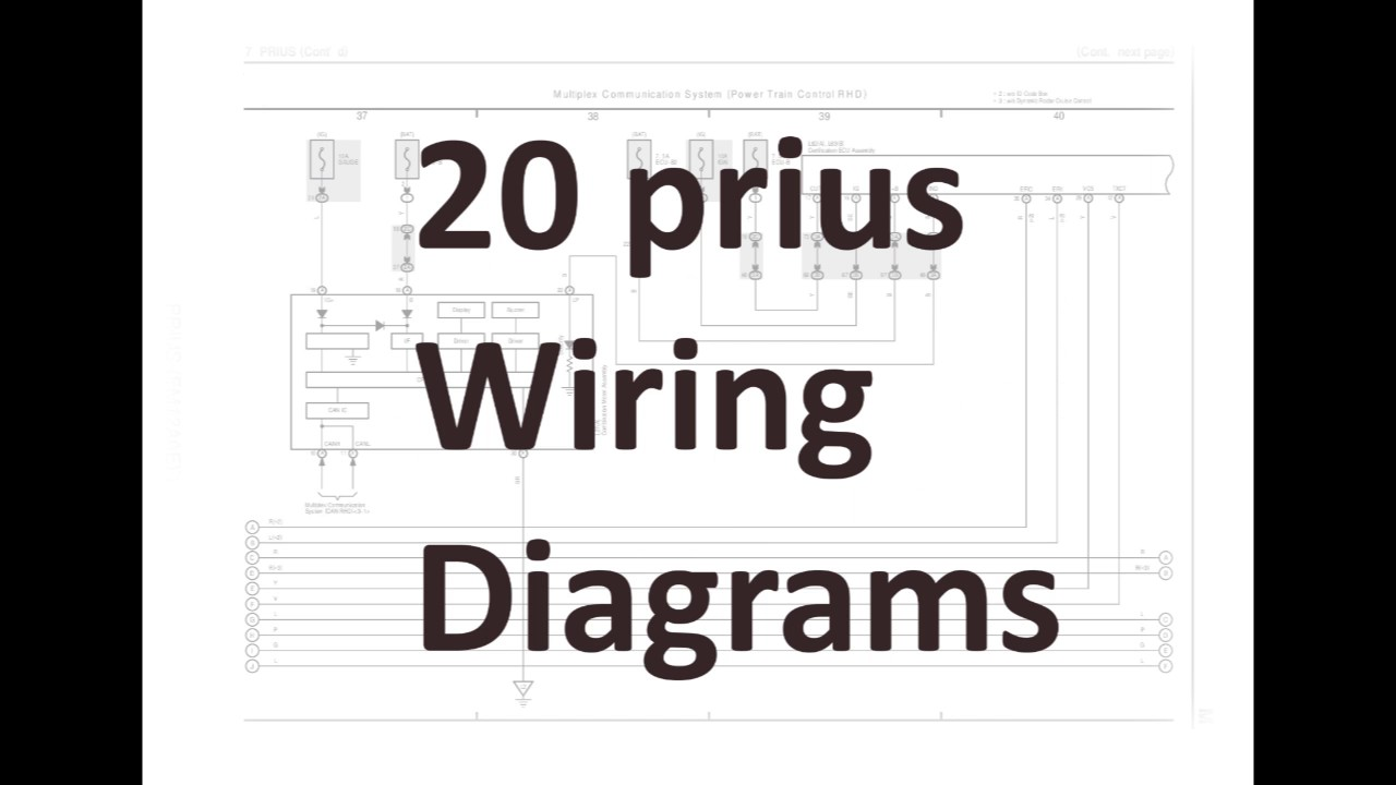20 prius wiring diagrams youtube rh youtube com