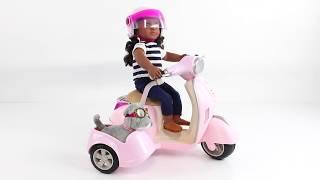 Транспорт для ляльок Our Generation: Скутер з бічним кошиком (BD37389)