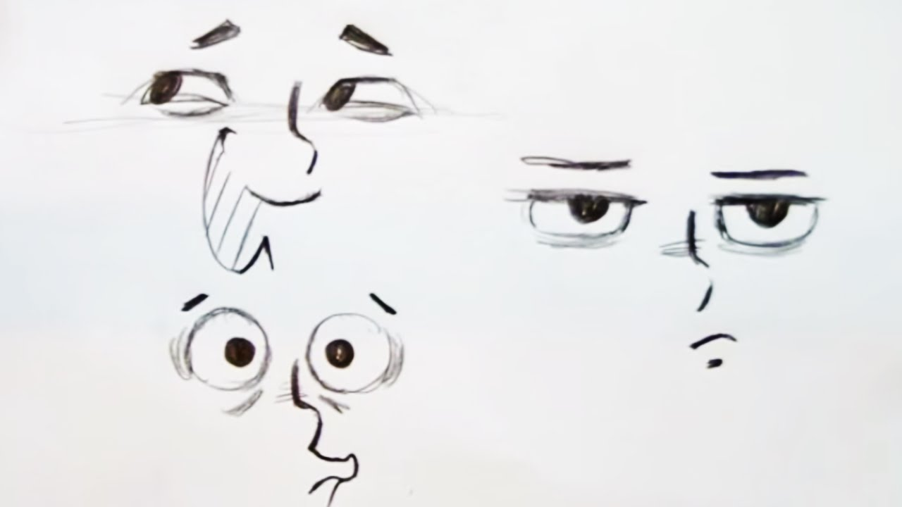 How To Draw Eye Expressions Step By Step Youtube