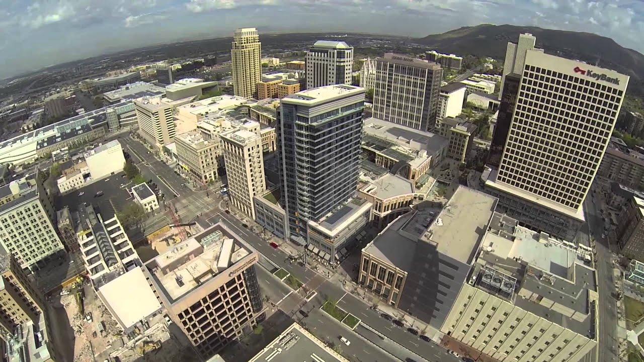 Aerial Drone Footage In Salt Lake City
