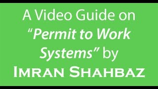 Permit to Work System Guide by Imran Shahbaz