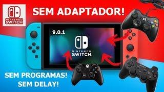 CONTROLE DE XBOX ONE PS3 E X360 NO NINTENDO SWITCH SEM ADAPTADOR SEM LAG NA 9.X