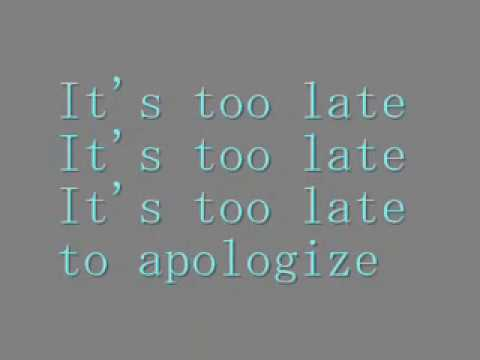 Denace - Too late (Lyrics)