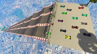 GTA 5 ONLINE 🐷 MEGA RAMPA F1 XXXL !!! 🐷 GARE PARKOUR 🐷N*701🐷 GTA 5 ITA 🐷 DAJE !!!