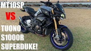 Yamaha MT-10SP VS Tuono, S1000R and Superduke!