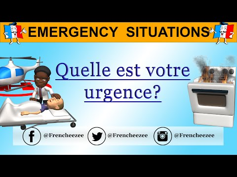 Learn French - Emergency Vocabulary - What's Your Emergency? - Les urgences (Optional Subtitles)