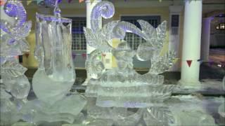 Ледяные скульптуры в Костроме.
