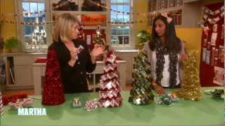 Decorating Table Top Chocolate Trees With Ghirardelli Chocolate On The Martha Stewart Show