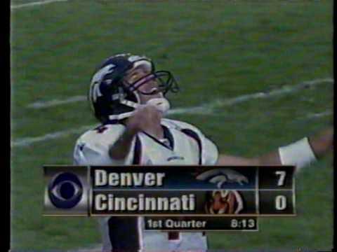 2000 Week 8 Denver at Cincinnati (Corey Dillon, 278 yards)