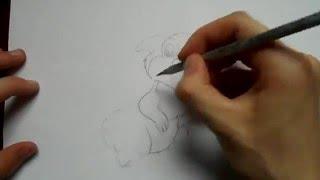 Видео: как нарисовать зайца?(обучающее видео по рисованию зайца простым карандашом поэтапно для начинающих., 2016-01-04T08:52:18.000Z)