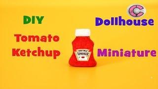 miniature heinz tomato ketchup | miniature things |no clay | miniature thing | mini ketchup bottle