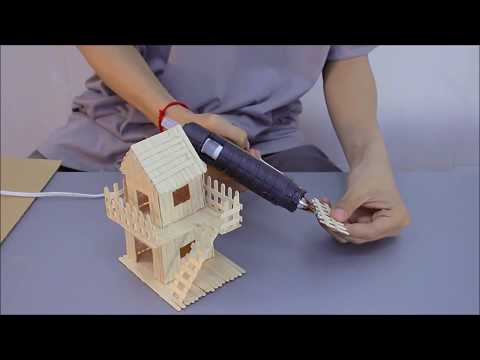 Making Popsicle Stick House For Tiny Hamsters - Home Miniature Design & DIY Project