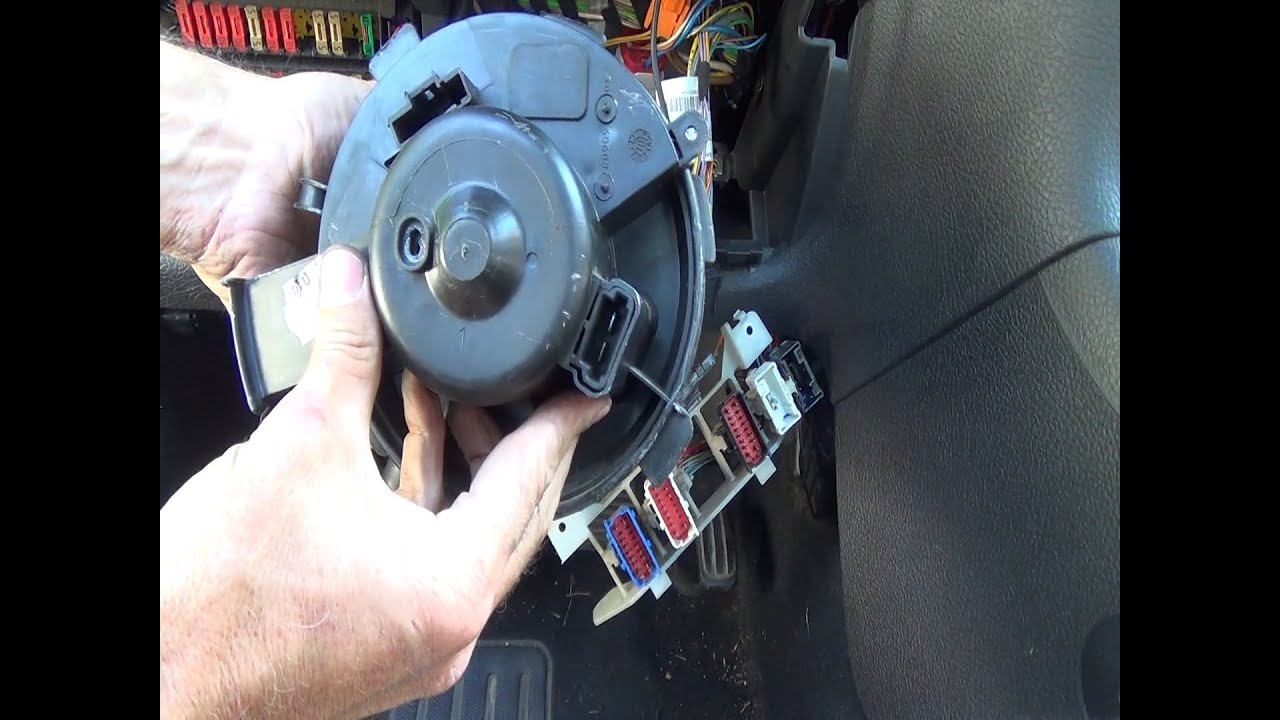Heater Fan Blower Motor Change Step By Step Youtube