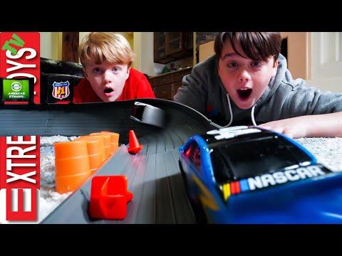 Nascar Crash Racer Mayem! Sneak Attack Squad Race Car Smashing Fun!