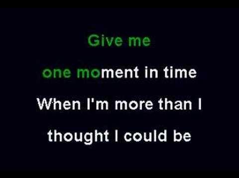 Whitney Huston - One Moment In Time (Karaoke)