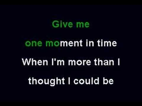 Whitney Huston - One Moment In Time (Karaoke)