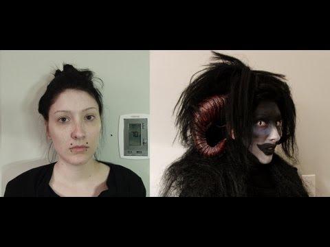 Demon Halloween Makeup - YouTube  Demon Halloween Makeup