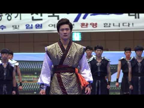 Well-organized Taekwondo Show.  Woosuk university Taekwondo Demo-team