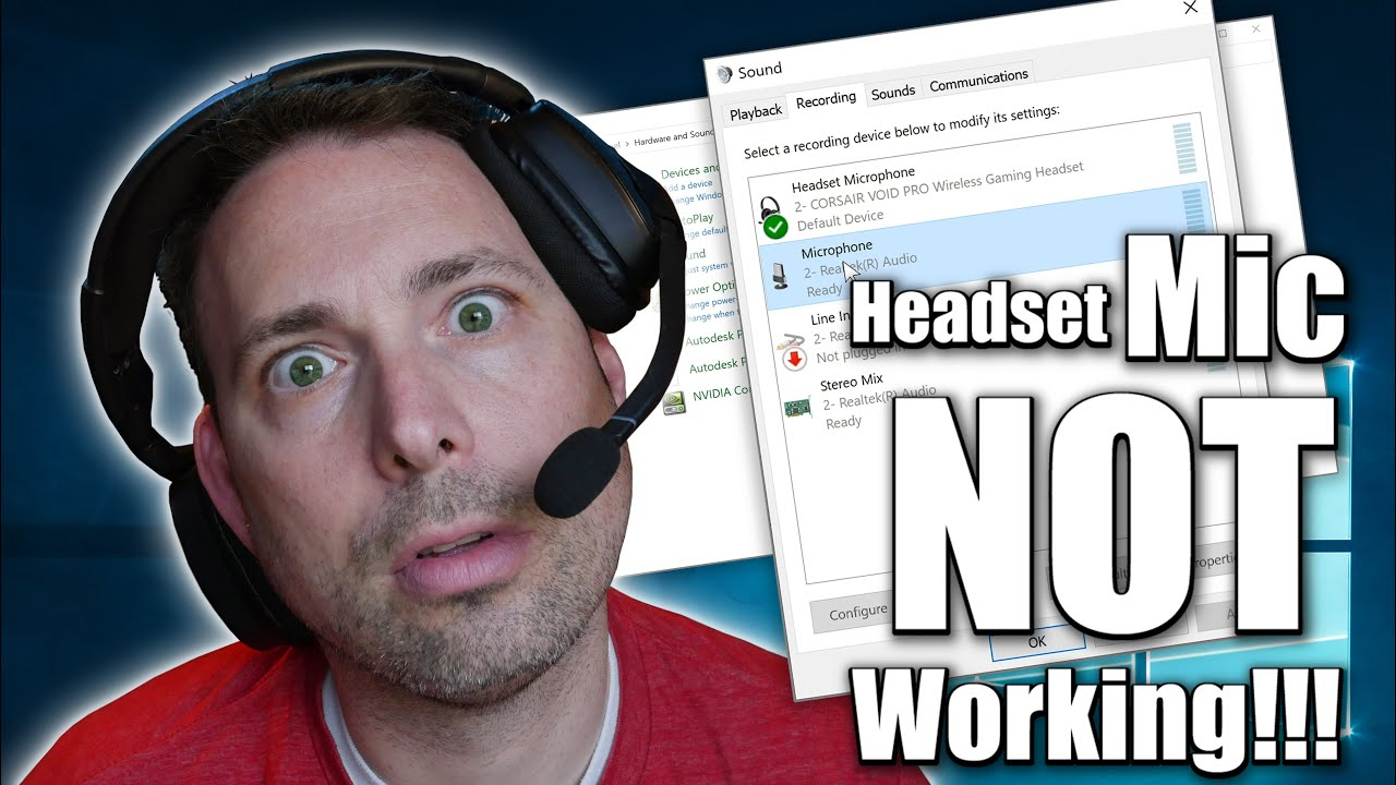 Why Isn T My Headset Mic Working How Do I Fix It Windows Software Settings Youtube