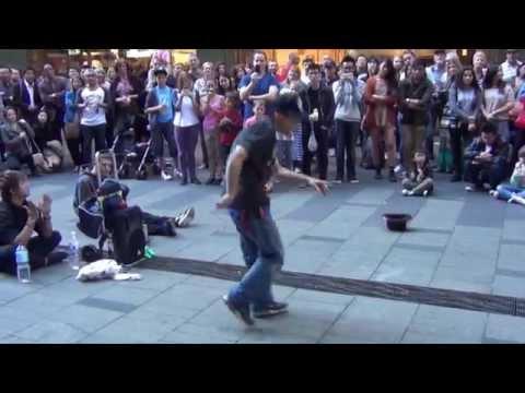 Cool Japanese Break Dancer at Pitt Street Mall Sydney