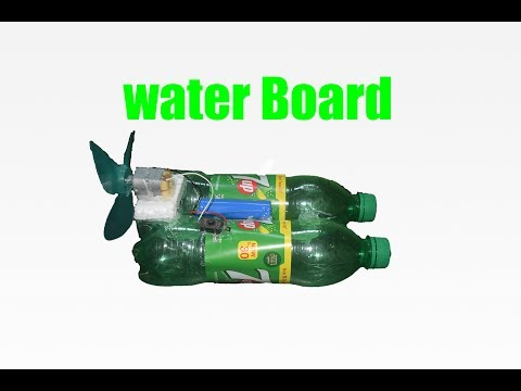 How to Make a Cocacola Water Board With DC Motor - Awesome Coca-cola Waterboard