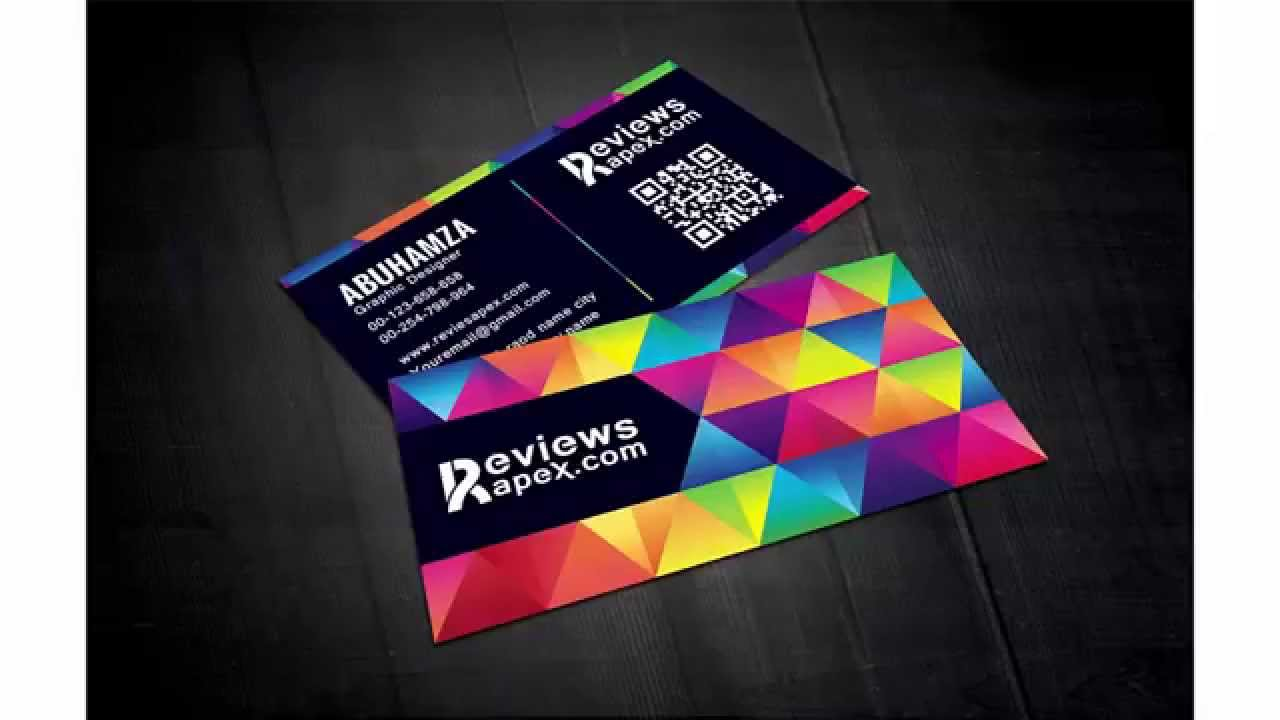 Free Download Modern Graphic Design Business Card Template - YouTube