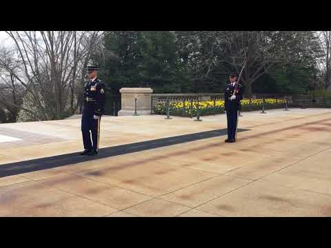 Tomb of the Unknown Soldier - changing of the guard April 2018