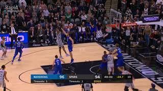 Imperdible: la sensacional remontada final de los Spurs resumida en un minuto