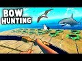 RAFT NEW Update!  BOW Hunting Sharks and Seagulls! (Raft Bow Update)