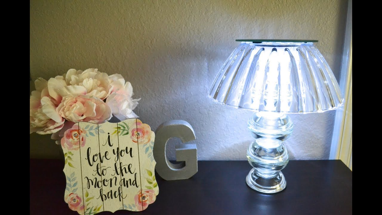 DOLLAR TREE DIY GLAM LAMP! INEXPENSIVE HOME DECOR!